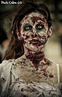 10 Stunning Makeup Ideas for Halloween Creepy Halloween Makeup, Scarecrow Makeup, Creepy Costumes, Amazing Halloween Makeup, Halloween Cosplay, Halloween Costumes, Halloween Stuff, Halloween Ideas, Halloween Party