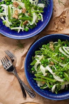 Sugar Snap Pea and Fennel Salad with Apple Cider Vinaigrette @Sylvie | Gourmande in the Kitchen