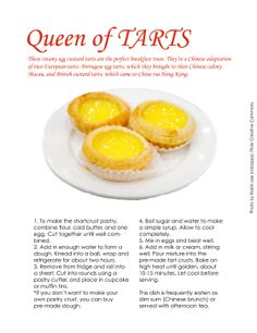 Chinese egg tarts from Travel Fare