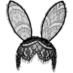 Veil Bunny Ears ❤ liked on Polyvore featuring accessories
