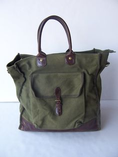 Vintage Canvas Tote Bag by ToatsMcgoats on Etsy, $30.00