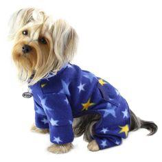 Cozy Midnight Stars Fleece Turtleneck Dog Pajamas / Bodysuit (Size: Large) - http://www.thepuppy.org/cozy-midnight-stars-fleece-turtleneck-dog-pajamas-bodysuit-size-large/