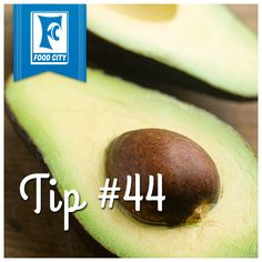 To keep halved avocadoes from browning, place a thin slice of lemon or lime over the cut side of the avocado.