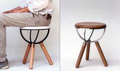 Illusive Stool   Designer: Lefteris Tsampikakis   Subatomic Seating   Yanko Design