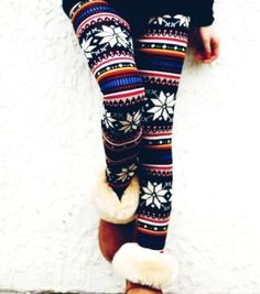 Tribal Aztec Print Snowflake Christmas Leggings - Girls Snowflake Christmas Leggings This seems to be my most popular pin! REPIN REPIN PLEASE!