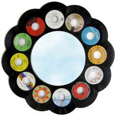 45 Record Framed Mirror