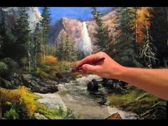 How To Paint a Landscape with Depth and Reflections - Acrylic Painting Lesson - YouTube