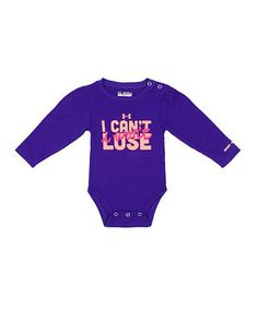 Loving this Hendrix 'I Can't Lose' Bodysuit - Infant on #zulily! #zulilyfinds