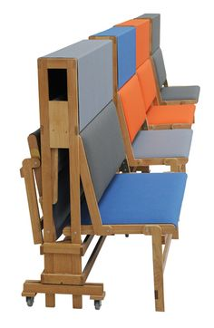 Fantastic design, long folding bench for verkadefabriek by Dutch designer Piet Hein Eek