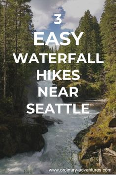 Easy hikes to three waterfalls near Seattle, perfect for kids! Resident Name: Roddy RicchEvent Name: Roddy RicchDate: Location: Seattle, WAEvent Venue: Showbox at the Market Seattle Hiking, Seattle Travel Guide, Seattle Vacation, Hiking Guide, Hiking Trails, Hiking Places, Hiking Spots, Camping Guide, Mt Rainier National Park