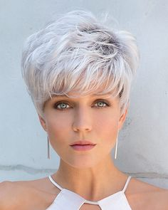 The chic Emerson wig by Noriko is a bold cut that can be worn tousled for a casual, relaxed look or styled into a soft feminine silhouette. Free shipping in US. Our Price: $119.00