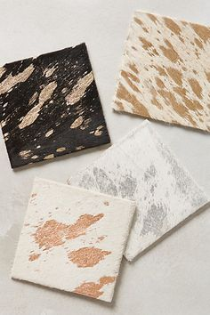 Ory Calfhair Coasters #anthrofave #anthropologie.com