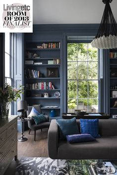 Similar colour to our sitting room, love the statement light