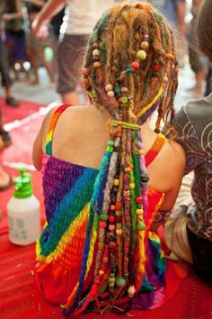Rainbow dreads <3 via | Hippies Hope Shop www.hippieshope.com