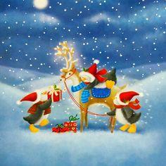 Penguin and Reindeer