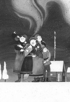 Maite Gurrutxaga ilustra una nueva edición de 'Inari, Laponiako lore', novela juvenil de Joseba Ossa publicada por begiko.