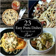 23 Easy Pasta Dishes Your Family will LOVE from The Best Blog Recipes  #pasta #dinner