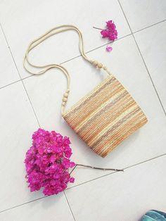 WICKER CROSSBODY BAG • Vintage Woven bag• Basket bag • Leather Crossbody bag • Festival Crossbody • Handmade bag • Rattan purse • Bohemian