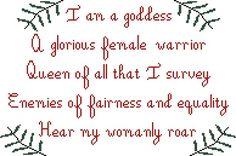 Hey, I found this really awesome Etsy listing at https://www.etsy.com/listing/205169495/pawnee-goddesses-pledge-cross-stitch