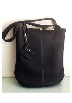 Women leather bag, tote bag, shoulder bag, messenger, leather strap, via Etsy