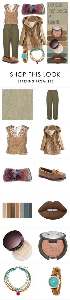 """Khakis"" by nadiasknits on Polyvore featuring Diane Von Furstenberg, Alberta Ferretti, WithChic, Eastland, Lime Crime, Laura Mercier, Gemma Simone and Earth"