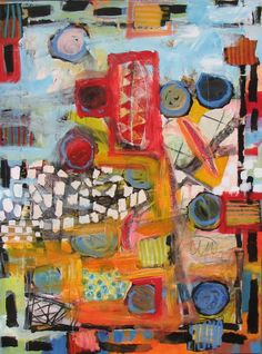 "Saatchi Online Artist: Michelle Daisley Moffitt; Paint, 2010, Mixed Media ""New World Order"""