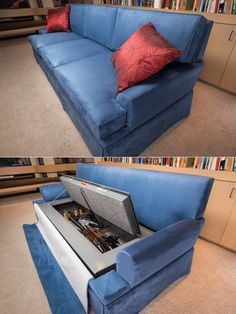 CouchBunker: bulletproof couch and gun safe in one!