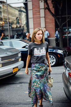 Street Style New York Fashion Week, septiembre de 2016 © Icíar J. Street Style New York, Look Street Style, Rock Style, Street Chic, Style Me, Nyfw Street, Look Fashion, Skirt Fashion, Womens Fashion