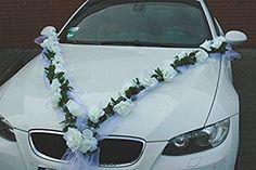 Buy car decoration quickly and easily for the wedding Wedding Getaway Car, Bridal Car, Wedding Car Decorations, Rose Decor, Plan Your Wedding, Wedding Colors, Fall Wedding, Wedding Bouquets, Wedding Planner