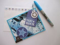 Check out this item in my Etsy shop https://www.etsy.com/au/listing/263335692/handmade-card-you-rock-blue-bright-boy