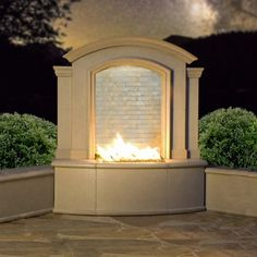 The Large Firefalls created by American Fyre Designs combines all your favorite outdoor features into one fire and water fountain with multi-color LED lights! This unique centerpiece is handcrafted from innovative glass fiber reinforced concrete and made right here in America. This quality outdoor Firefalls with cascading water has many options to make it your own. Choose from four different shades, as well as four fyre glass hues. This piece can accent any decor!