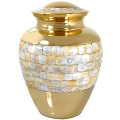 Mother Of Pearl Large Cremation Urn