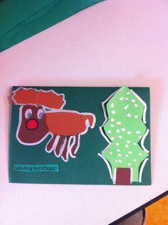 Rednose reindeer van papier knipsels