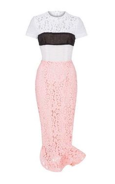 Louella lace short sleeve dress by ALEX PERRY for Preorder on Moda Operandi