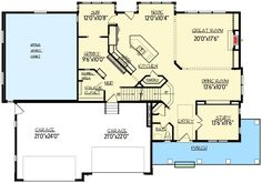 Sneakers Not Included - 73349HS   2nd Floor Master Suite, Butler Walk-in Pantry, CAD Available, Craftsman, Den-Office-Library-Study, Jack