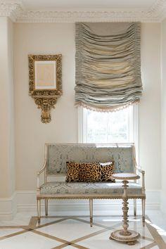 Ebanista San Marino Estate Look Book Design Entrée, House Design, Design Trends, Balkon Design, Custom Window Treatments, White Rooms, Elegant Homes, Classic House, Drapes Curtains