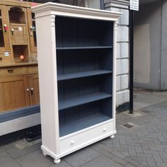 painted bookshelves | Antique Painted Bookcase - The Consortium, Vintage…