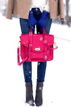 Bright winter style.