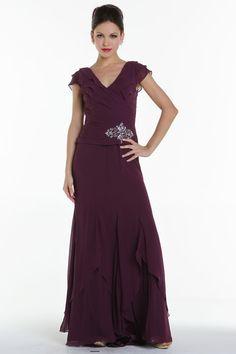 Silky chiffon mother of bride dress