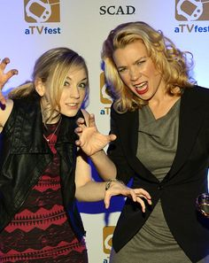 "Members of The cast of ""The Walking Dead"" Emily Kinney (Beth Greene) and Laurie Holden (Andrea) attend the Inaugural aTVfest presented by (S..."