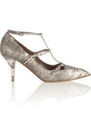 Tabitha SimmonsHai glitter-finished lizard pumps