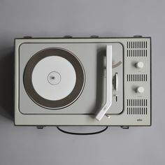 Braun PCV 4, a portable record player designed by Dieter Rams