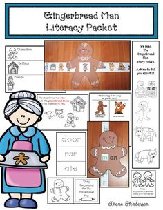 Gingerbread Activities: Awesome Gingerbread Man Literacy Packet.  Chock full of interesting, quick, easy & fun activities that cover a variety of skills and standards!