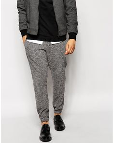 7c66a5fde5 Men s Black Skinny Fit Smart Joggers In Brushed Jersey