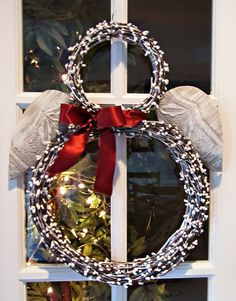 Snowman Shaped Lighted Wreath