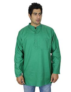 Kurta Summer Dresses for Men (Green), Loose Fit, Airy Comfortable, 100% Cotton, Machine Washable, Size XXL, Chest 46 Inches. Best for Hot Weather Conditions ShalinIndia http://www.amazon.co.uk/dp/B00V85R2UM/ref=cm_sw_r_pi_dp_d3a4vb003M6JR