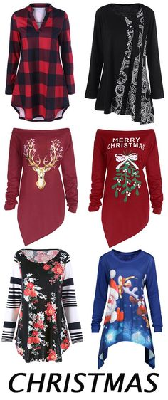 6803c0c2c 50% OFF Christmas plus size tops Plus Size T Shirts, Plus Size Tops,