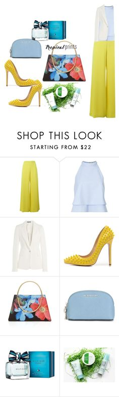 """""""flowers"""" by luxaleyda on Polyvore featuring P.A.R.O.S.H., Miss Selfridge, Maison Margiela, Posh Girl, Ted Baker, MICHAEL Michael Kors, Tommy Hilfiger, Nip+Fab, tropicalprints and hottropics"""