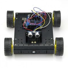 This kit is designed for Arduino robot projects. You can make an Arduino controlled car with this DIY chassis and motor kit. Mobiles, Arduino Programming, Robot Kits, New Inventions, Arduino Projects, Handmade Art, Geek Stuff, Car, 3d Printing