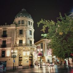 Downtown Granada, Spain at night | Canvas of Light Photography
